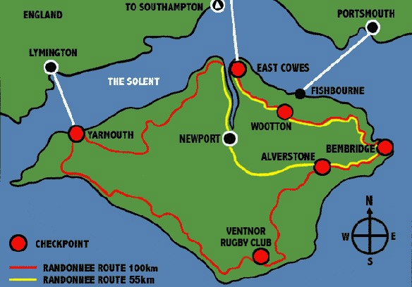 Route GPX and Maps - IoW Randonnee